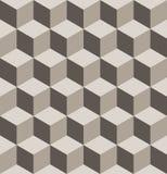 Bezszwowy isometric sześcianu wzór Fotografia Royalty Free