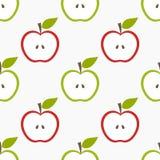 bezszwowy jabłka wzoru Fotografia Royalty Free
