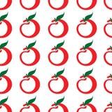 bezszwowy jabłka wzoru Obrazy Royalty Free