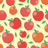 bezszwowy jabłka wzoru ilustracja wektor