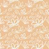 Bezszwowy japończyka wzór na pastelowym brzoskwini tle ilustracja wektor