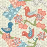bezszwowy japończyka abstrakcjonistyczny wzór Zdjęcia Royalty Free