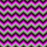 Bezszwowy jaskrawy abstrakta wz?r Geometryczny zygzakowaty druk komponuj?cy zygzag wyk?ada purpury, menchie, ziele?, szaro?? kolo royalty ilustracja