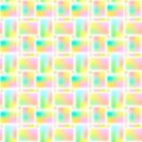Bezszwowy jaskrawy geometryczny wielostrzałowy wzór prostokąty wektor ilustracji