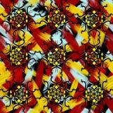 Bezszwowy jaskrawy kolorowy wzór Fotografia Royalty Free