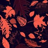 Bezszwowy jesień wzór Obrazy Royalty Free