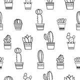 Bezszwowy kaktusa wzór Obraz Royalty Free