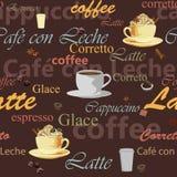 Bezszwowy kawowy temat Zdjęcie Royalty Free