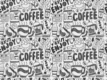 bezszwowy kawy wzoru Zdjęcie Stock