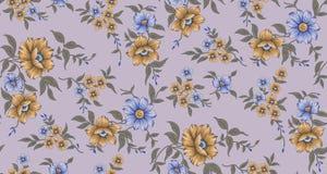 Bezszwowy klasyczny kwiatu wzór ilustracja wektor