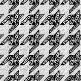 Bezszwowy klasyczny tkaniny houndstooth, de wzór Obrazy Royalty Free