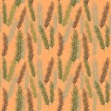 Bezszwowy kolor palmy liści wzór Obrazy Stock