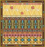 Bezszwowy kolorowy aztec dywanik z ptakami i strzała, Obraz Stock
