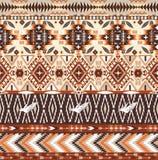 Bezszwowy kolorowy aztec geometryczny plemienny wzór Zdjęcia Royalty Free