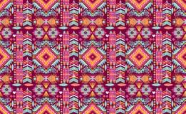 Bezszwowy kolorowy aztec geometryczny wzór Fotografia Royalty Free
