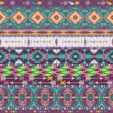 Bezszwowy kolorowy aztec geometryczny wzór Obraz Royalty Free