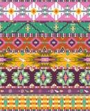 Bezszwowy kolorowy aztec geometryczny wzór Obrazy Royalty Free