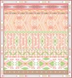 Bezszwowy kolorowy aztec geometryczny wzór z ptakami i strzała Obraz Stock