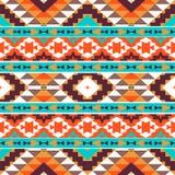 Bezszwowy kolorowy aztec wzór Zdjęcia Royalty Free