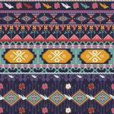 Bezszwowy kolorowy aztec wzór z ptakami Zdjęcie Stock