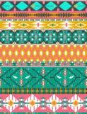 Bezszwowy kolorowy aztec wzór z ptakami Obrazy Royalty Free