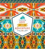 Bezszwowy kolorowy dekoracyjny geometryczny wzór wewnątrz Obraz Stock