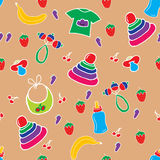 Bezszwowy kolorowy dziecko wzór Obraz Stock