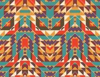 Bezszwowy kolorowy navajo wzór Obrazy Royalty Free