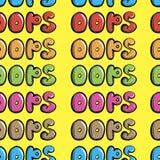 Bezszwowy kolorowy oops Zdjęcia Stock