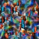 Bezszwowy kolorowy pi?rkowy abstrakcjonistyczny druk royalty ilustracja