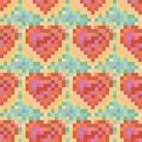 Bezszwowy kolorowy serce wzór Fotografia Royalty Free