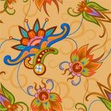 Bezszwowy kolorowy wzór w azjata stylu royalty ilustracja