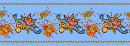 Bezszwowy kolorowy wzór w azjata stylu ilustracji