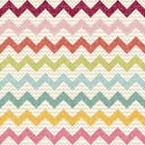 Bezszwowy koloru szewronu wzór na bieliźnianej teksturze Zdjęcia Stock