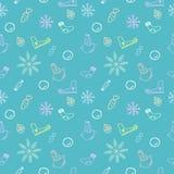 Bezszwowy koloru wzór dla bożych narodzeń i nowego roku Fotografia Stock
