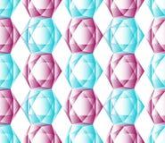Bezszwowy koloru wzór heksagonalni kryształy Fotografia Royalty Free