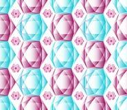 Bezszwowy koloru wzór robić wielcy i mali kryształy Fotografia Stock