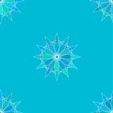 Bezszwowy koloru wzór z błękitnym tłem Zdjęcia Stock