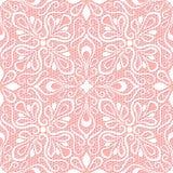 Bezszwowy koronka wzór na różowym tle Zdjęcia Stock