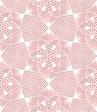 Bezszwowy koronka wzór na różowym tle Fotografia Stock