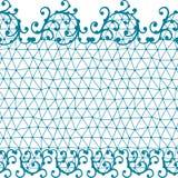 Bezszwowy koronka wzór z kwiecistymi ornamentami Zdjęcie Royalty Free