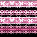 Bezszwowy koronkowy koronkowy washi taśm wzór na białym tle Obrazy Stock