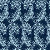Bezszwowy koronkowy kwiecisty wzór Obrazy Royalty Free