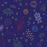 Bezszwowy kosmosu wzór Obraz Stock