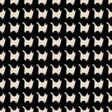 Bezszwowy kot sylwetek wzór Zdjęcie Royalty Free