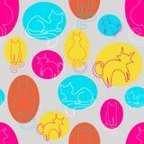 Bezszwowy kota wzór Obraz Stock
