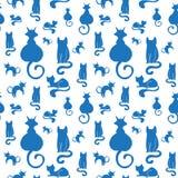 Bezszwowy kota wzór Fotografia Royalty Free