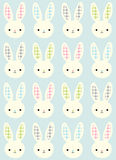 Bezszwowy królik kreskówki wzór Obrazy Stock