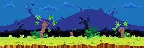 Bezszwowy kreskówka krajobraz Obraz Royalty Free