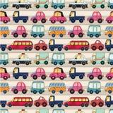 bezszwowy kreskówka samochodowy wzór Zdjęcia Stock